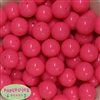 20mm Neon Pink Jelly Style Acrylic Bubblegum Beads