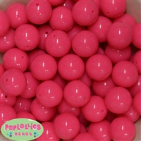 20mm Neon Pink Bubblegum Beads