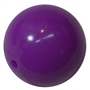 20mm Neon Purple Jelly Style Acrylic Bubblegum Beads