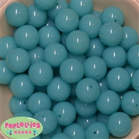 20mm Neon Sky Bubblegum Beads