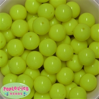20mm Neon Yellow Bubblegum Beads Bulk