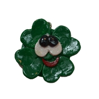 Funky Clover Polymer Clay Pendant