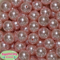 20mm Baby Pink Faux Pearl Beads