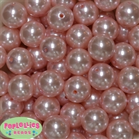 20mm Baby Pink Faux Pearl Acrylic Bubblegum Beads