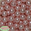 20mm Baby Pink Faux Pearl Acrylic Bubblegum Beads Bulk