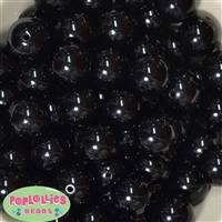 20mm Black Faux Pearl Beads