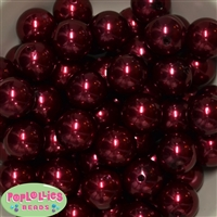 20mm Burgundy/Wine Pearl Beads
