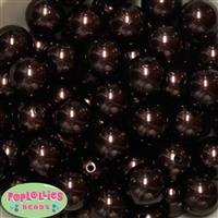 20mm Cocoa Brown Faux Pearl Acrylic Bubblegum Beads Bulk