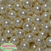 20mm Cream Faux Pearl Acrylic Bubblegum Beads