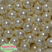 20mm Cream Pearl Beads