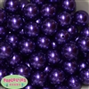 20mm Dark Purple Faux Pearl Acrylic Bubblegum Beads