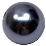 20mm Dark Gray Faux Pearl Acrylic Bubblegum Beads
