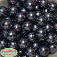 20mm Dark Gray Pearl Beads