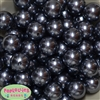 20mm Dark Gray Faux Pearl Acrylic Bubblegum Beads Bulk