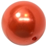 20mm Deep Orange Faux Pearl Acrylic Bubblegum Beads