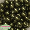 20mm Forest Green Faux Acrylic Pearl Bubblegum Beads