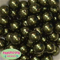 20mm Forest Green Pearl Bead