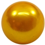 20mm Gold Faux Acrylic Pearl Bubblegum Beads