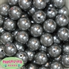 20mm Gray Faux Acrylic Pearl Bubblegum Beads