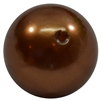 20mm Honey Brown Faux Acrylic Pearl Bubblegum Beads