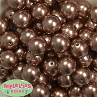 20mm Honey Brown Pearl Beads
