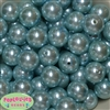 20mm Light Blue Faux Acrylic Pearl Bubblegum Beads