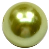 20mm Light Olive Green Faux Acrylic Pearl Bubblegum Beads