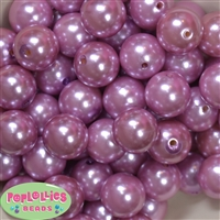 20mm Mauve Pink Faux Acrylic Pearl Bubblegum Beads