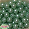 20mm Mint Faux Acrylic Pearl Bubblegum Beads