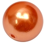 20mm Orange Sherbert Faux Acrylic Pearl Bubblegum Beads