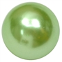 20mm Pastel Green Faux Acrylic Pearl Bubblegum Beads