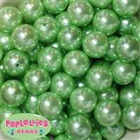 20mm Pastel Green Faux Acrylic Pearl Bubblegum Beads Bulk
