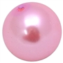 20mm Pink Faux Acrylic Pearl Bubblegum Beads