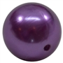 20mm Purple Faux Acrylic Pearl Bubblegum Beads