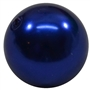 20mm Royal Blue Faux Acrylic Pearl Bubblegum Beads