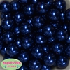 20mm Royal Blue Faux Acrylic Pearl Bubblegum Beads Bulk