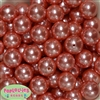 20mm Salmon Faux Acrylic Pearl Bubblegum Bead