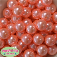 20mm Shell Pink Faux Acrylic Pearl Bubblegum Beads Bulk