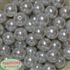 20mm White Faux Acrylic Pearl Bubblegum Beads