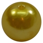 20mm Yellow Faux Acrylic Pearl Bubblegum Beads