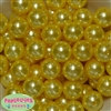 20mm Bulk Yellow Pearl Beads
