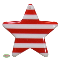 Acrylic Red Stripe Star Pendant