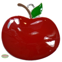 Red Apple Rhinestone Pendant 48mm x 33mm