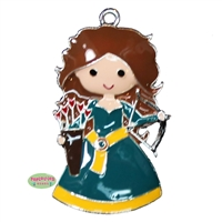 Merida Inspired Archery Princess Enamel Pendant