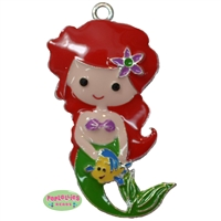 Mermaid Princess Enamel Pendant