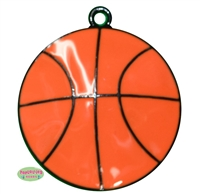 Enamel Basketball Pendant 35mm x 35mm