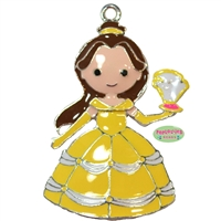 Yellow Princess Enamel Pendant