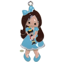 Clara with Nutcracker Enamel Pendant