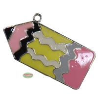 Back to School Pencil Enamel Pendant
