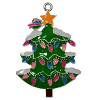 "Enamel Christmas Tree Pendant 35mm x 35mm (approx 1.3"")"
